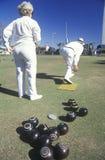 Seniors lawn bowling Stock Image