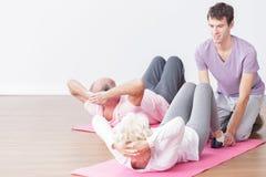 Seniors leading healthy lifestyle Stock Images