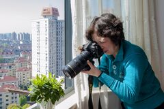 Free Seniors Learning Photography Stock Images - 178882854