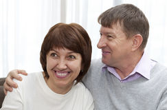 Seniors in Love Royalty Free Stock Photo