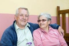 Seniors in love Stock Image