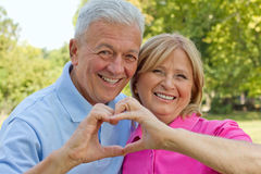 Seniors in love Stock Photo