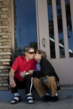 Seniors in love kissing Stock Images