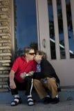 Seniors in love kissing stock images