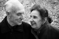 Seniors love story Stock Images