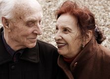 Seniors Love Story Royalty Free Stock Photo