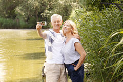 Seniors in nature Royalty Free Stock Images