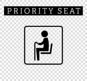 Seniors or old man sign. Priority seating for customers, special place icon isolated on background. Vector illustration flat style Royalty Free Stock Photography