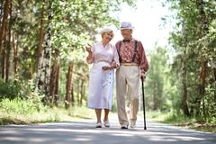 Seniors outdoors Royalty Free Stock Photography