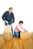 Seniors packing boxes Royalty Free Stock Photography