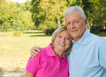 Seniors Park Stock Photography