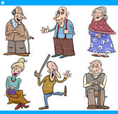 Seniors people set cartoon illustration Stock Photo