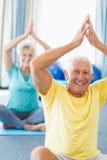 Seniors performing yoga Royalty Free Stock Photography