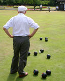 Seniors Playing Bowls Royalty Free Stock Photos