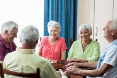 Seniors playing games Stock Photos