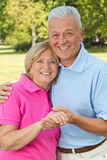 Seniors posing with hands Royalty Free Stock Images