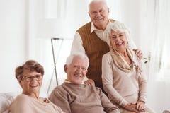 Seniors with positive attitude. Portrait of smiling seniors with positive attitude stock image