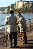 Seniors on the Prom. Senior citizens out for a Sunday morning chat Royalty Free Stock Images
