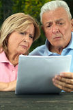 Seniors read Stock Images