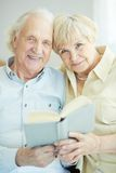 Seniors reading Stock Photos