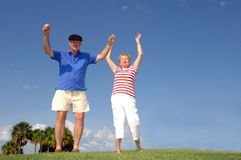 Seniors retirement excitement Stock Photos