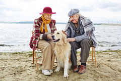 Seniors by seaside Royalty Free Stock Photography