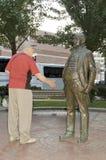 Seniors shaking hands Royalty Free Stock Photo