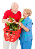 Seniors Shopping Together Royalty Free Stock Image