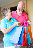 Seniors - Shopping Trip Royalty Free Stock Photos