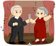 Seniors Singing Royalty Free Stock Image