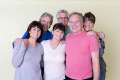 Seniors smiling for camera. Group of seniors smiling at the camera Royalty Free Stock Images