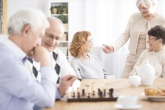 Seniors spending time together Royalty Free Stock Photo