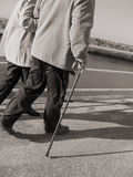 Seniors strolling Royalty Free Stock Image