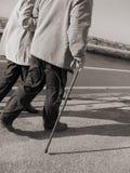 Seniors strolling Royalty Free Stock Image