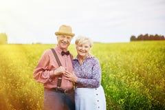 Seniors on sunny day Stock Image