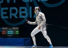 Seniors Team Male - Sabre Stock Image