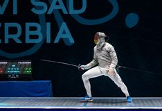 Seniors Team Male - Sabre royalty free stock images