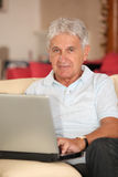 Seniors and technology Stock Images