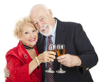 Seniors Toast with Champagne Royalty Free Stock Photo