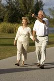 Seniors Walking Royalty Free Stock Photos