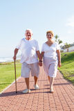 Seniors walking Royalty Free Stock Images