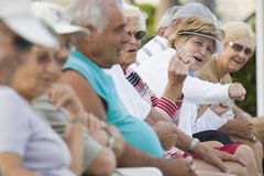 Seniors watching a game Royalty Free Stock Image
