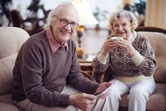 Seniors at weekend Royalty Free Stock Images