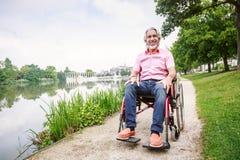 Seniors In Wheelchair Stock Images