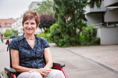 Seniors In Wheelchair Stock Photos