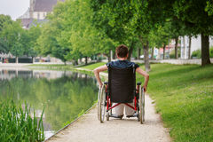 Seniors In Wheelchair Royalty Free Stock Images