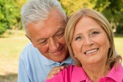 Seniors Whisper Royalty Free Stock Photos