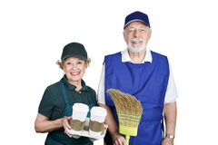 Seniors in Work Force Royalty Free Stock Photo