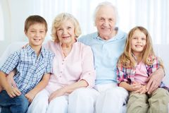 Seniors and youngsters Stock Image