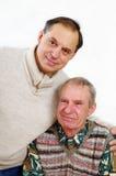 seniory dwa obrazy royalty free
